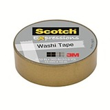 Scotch Washi Craft Tape Gold 15mm x 10m