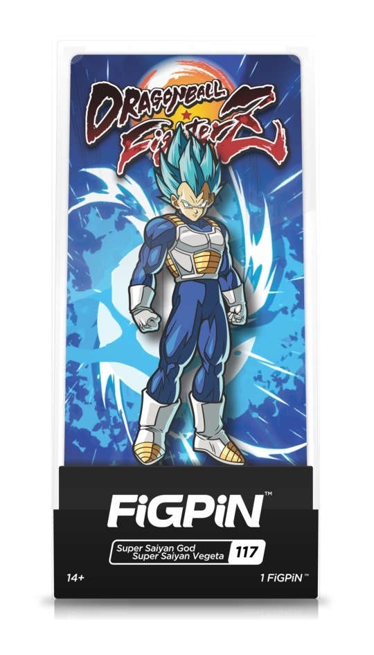 Dragon Ball FighterZ: SSGSS Vegeta (#117) - Collectors FIGPiN image