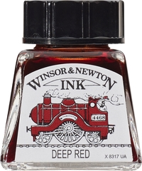 Winsor & Newton: Drawing Ink - Deep Red 227 (14ml)