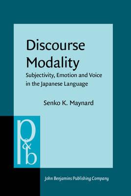 Discourse Modality by Senko K Maynard image