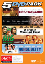5 DVD Pack (Lost In Translation / Being John Malkovich / O Brother Where Art Thou / Big Lebowski / Nurse Betty) (5 Disc Set) on DVD