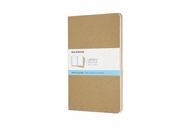 Moleskine: Large Cahier Dotted Journal - Kraft Brown (Set of 3)