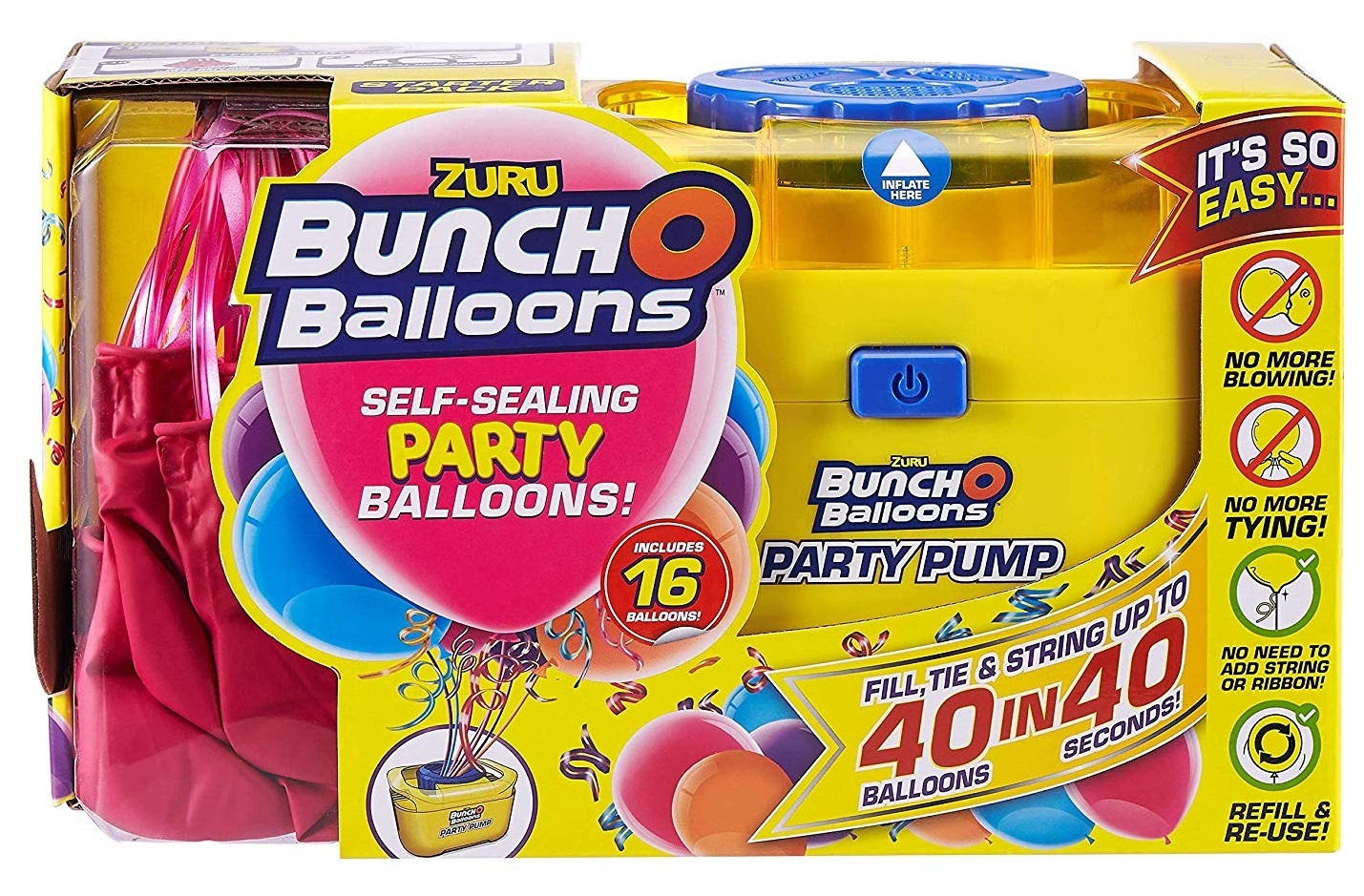 Bunch O' Balloons: Air Pump Starter Pack - (Pink) image
