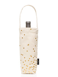 Kate Spade Gold Dot Wine Tote