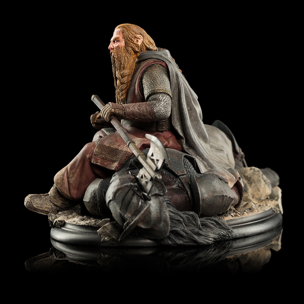 Lord of the Rings: Gimli the Dwarf on Uruk-hai - Miniature Figure image