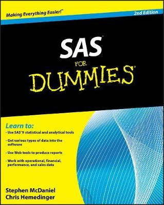 SAS For Dummies by Stephen McDaniel
