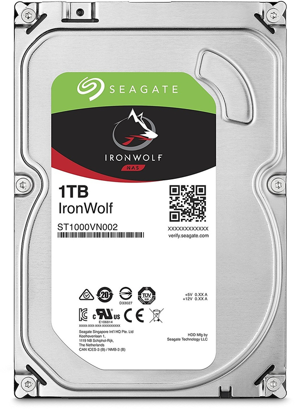 "1TB Seagate IronWolf 3.5"" 5900RPM SATA NAS HDD"