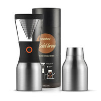 Asobu Cold Brew Coffee Maker - Silver/Black