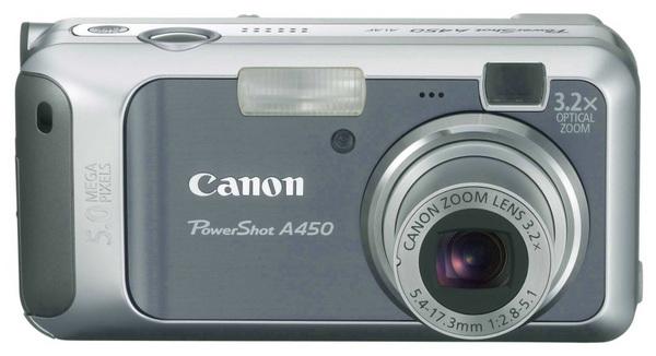 Canon A450 5.0Mp 3.2x Optical Digital Camera Super fast DiG!C II Imaging Processor