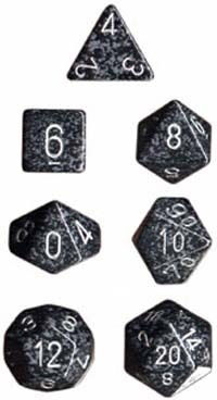 Chessex Speckled Polyhedral Dice Set - Ninja image