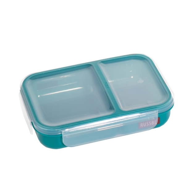 Russbe Inner Seal 2 Compartment Lunch Bento 680ML - Teal