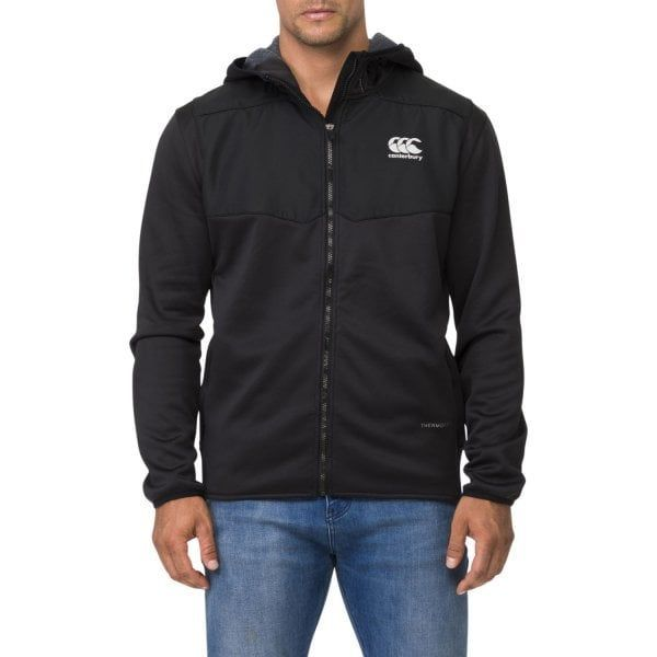 Canterbury: Thermoreg Spacer Fleece FZ Hood - Black (XL)