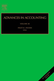 Advances in Accounting: Volume 19
