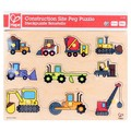 Hape: Construction Site Wooden Peg Puzzle