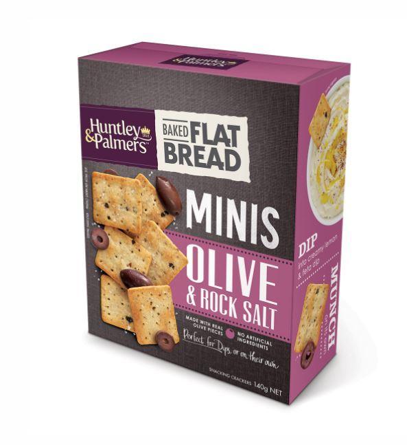Huntley & Palmers Flat Bread Minis - Olive & Rock Salt (140g)
