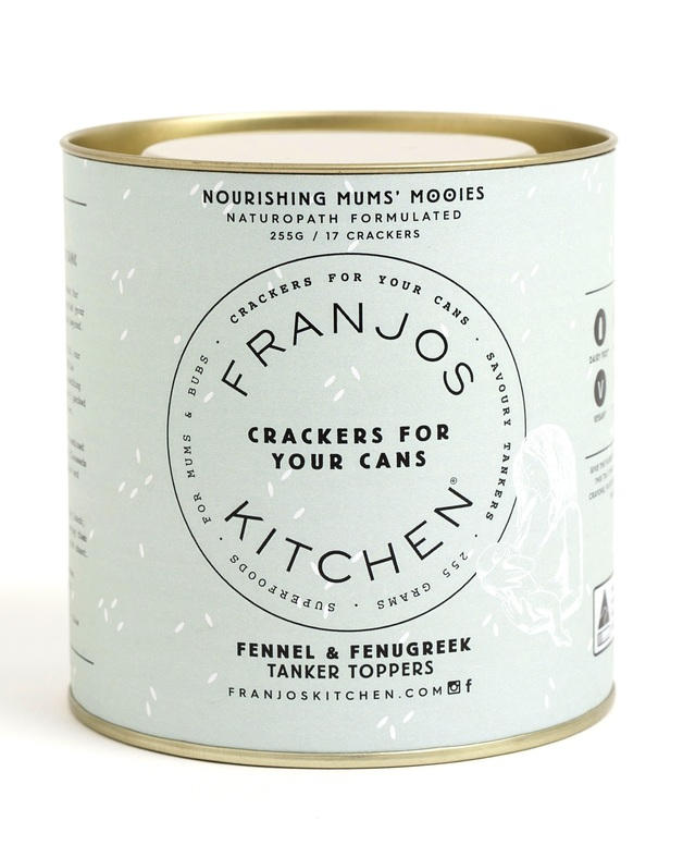 Franjos Kitchen: Tanker Topper Lactation Crackers - Fennel & Fenugreek (280g)