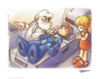 Mega Man: Premium Art Print - Concept Art (Limited Edition)