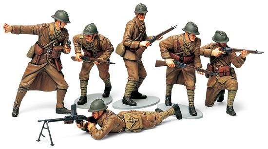 Tamiya WWII French Infantry Set 1:35 Model Kit image