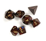 Chessex Signature Polyhedral Dice Set Scarab Blue Blood/Gold