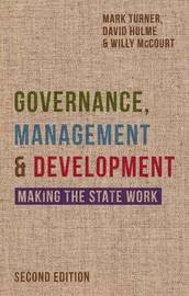 Governance, Management and Development by Mark Turner image