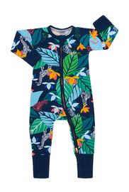 Bonds Zip Wondersuit Long Sleeve - Spy in the Jungle Navy (12-18 Months)