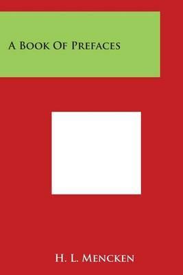 A Book of Prefaces by H.L. Mencken image