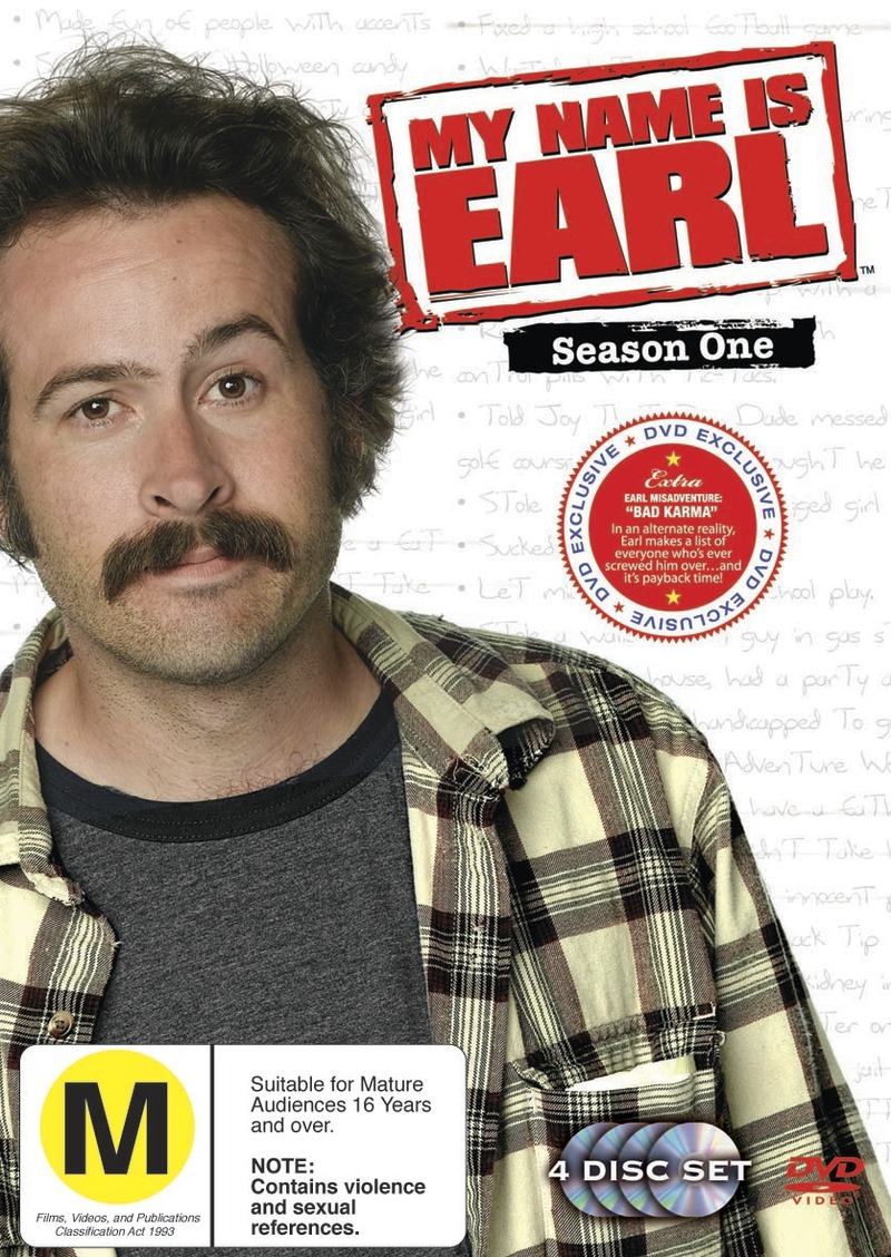 My Name Is Earl - Season 1 (4 Disc Set) on DVD image