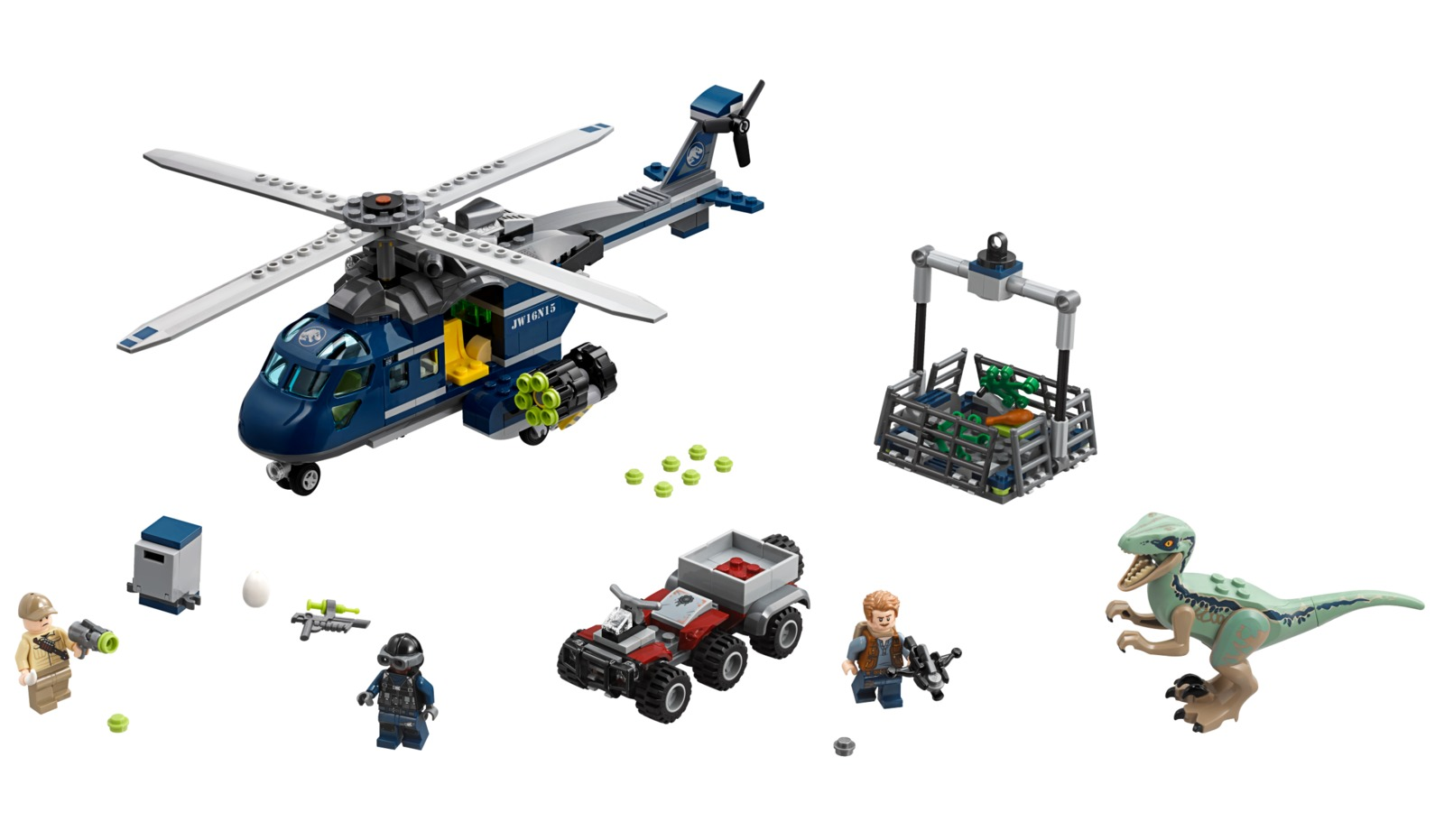 LEGO Jurassic World: Blue's Helicopter Pursuit (75928) image