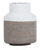 General Eclectic Concrete Vase - White