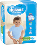 Huggies Nappies Bulk - Walker Boy 13-18kg (32)