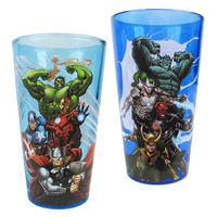 Marvel Avengers Heroes and Villains Pint Glass - 2-Pack (473ml)