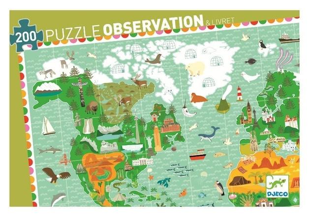 Djeco: 200pc Around The World Puzzle