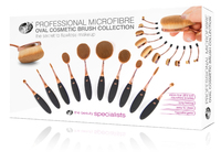 Professional Microfibre Oval Cosmetic Brush Collection image