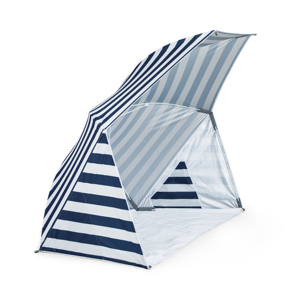 Picnic Time: Brolly Beach Umbrella Tent (Navy and White Stripe)