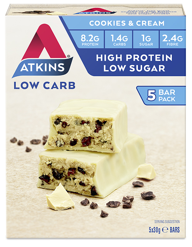 Atkins Advantage Bars - Cookies & Cream (Box of 5)