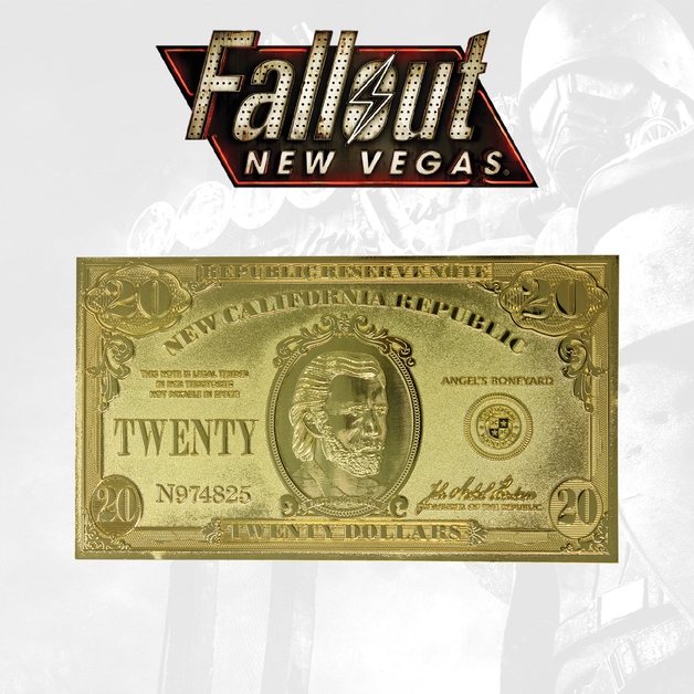 Fallout: New Vegas - NCR $20 Bill 24k Gold Plated Replica