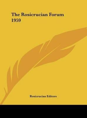 The Rosicrucian Forum 1959 image