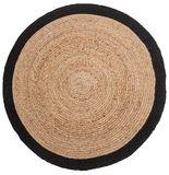 General Eclectic - Circular Hemp Rug (Large - Black Trim)