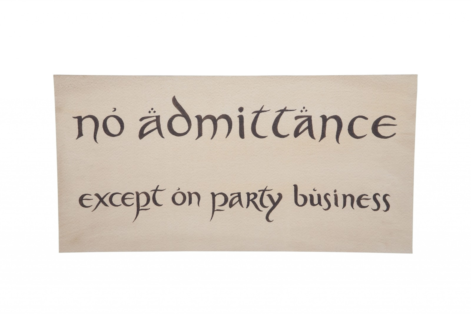 The Hobbit: An Unexpected Journey - No Admittance Sign image