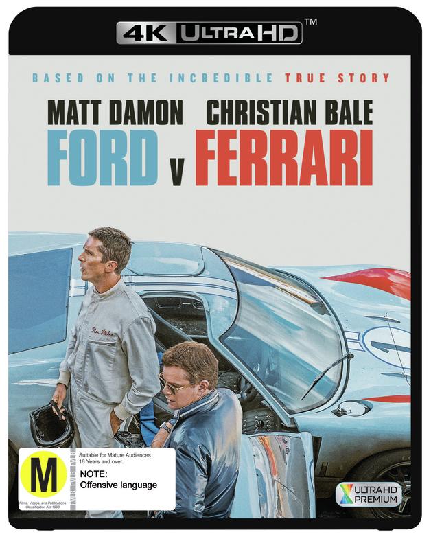 Ford v Ferrari on UHD Blu-ray
