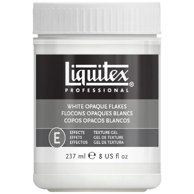 Liquitex: White Opaque Flakes Texture Effects (237ml)