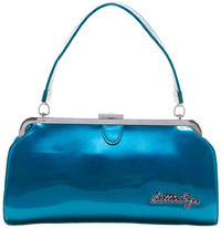 Sourpuss Bettie Page Cover Girl Purse - Blue
