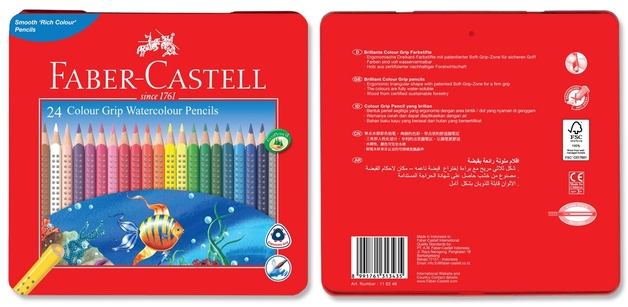 Faber-Castell: Grip Watercolour (Tin of 24)