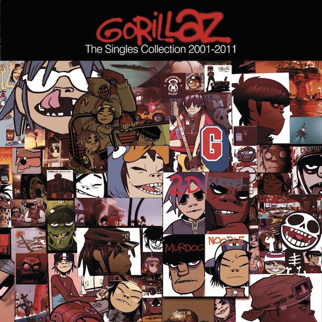 """The Singles Collection 2001 - 2011 7"""" Box Set by Gorillaz image"""