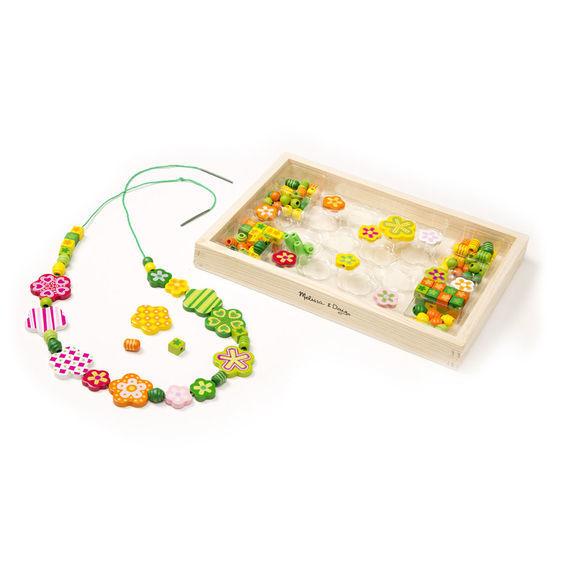 Melissa & Doug: Flower Power Wooden Bead Set image