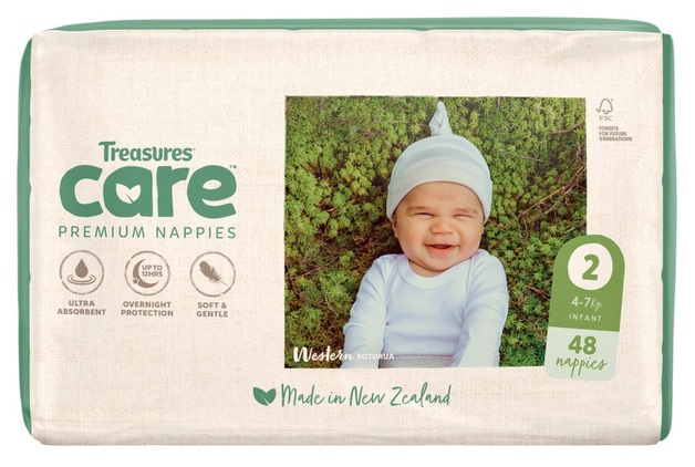 Treasures: Care - Unisex Nappies - 2: Infant (48-pk)