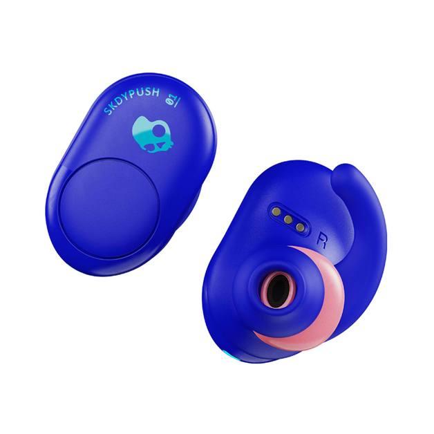Skullcandy Push Earbuds TWS Limited Edition RAD Blue + Digital Watch Bundle