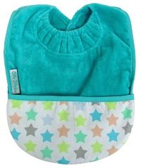 Silly Billyz Towel Pocket Bib (Aqua Stella)