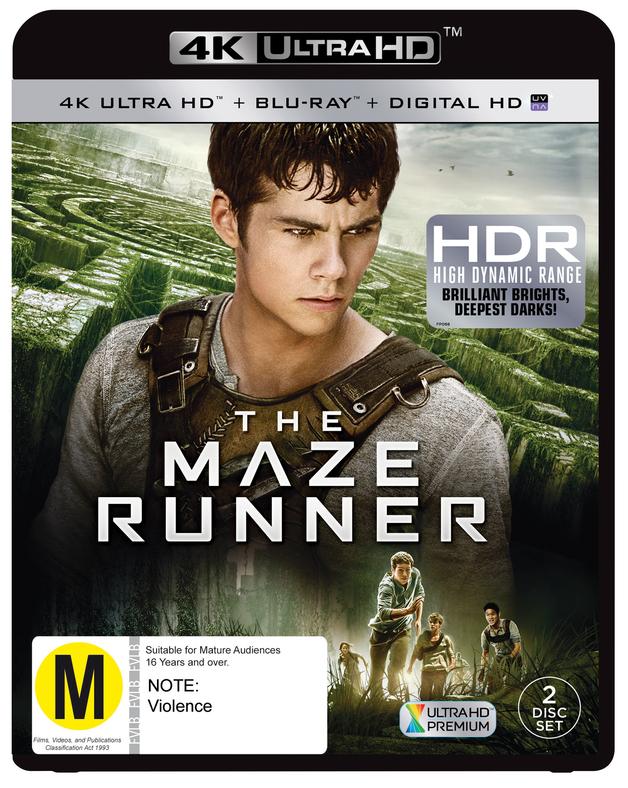 Maze Runner on Blu-ray, UHD Blu-ray