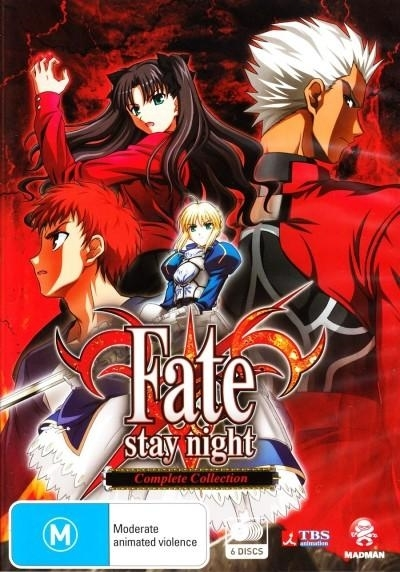 Fate/Stay Night - Complete Collection (6 Disc Set) on DVD image